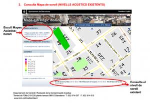 Mapa del ruido de Barcelona